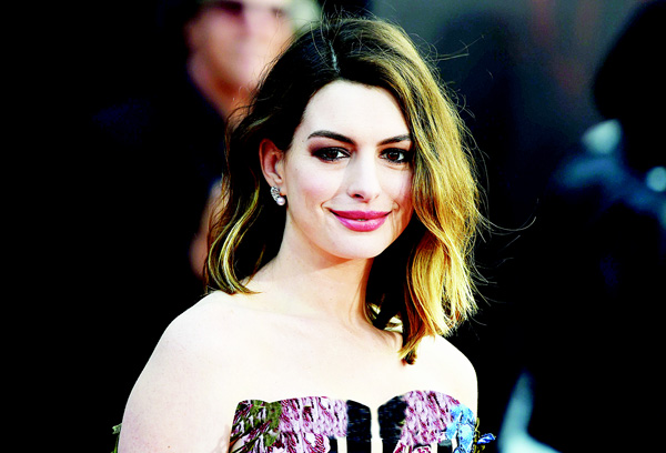 Actress Anne Hathaway attends the premiere of Disney's 'Alice Through The Looking Glass', May 23 at the El Capitan Theatre in Hollywood, California. (AP)