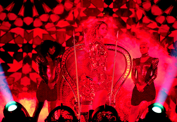 Beyonce performs during the Formation World Tour at AT&T Stadium on May 9, in Arlington, Texas. (AP)