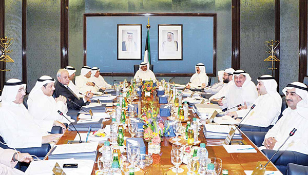 Acting PM and Foreign Minister Sheikh Sabah Al-Khaled Al-Sabah chairs the weekly Cabinet meeting