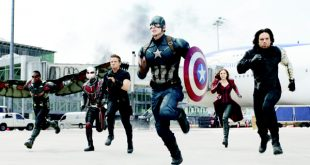 In this image released by Disney, Anthony Mackie (from left), Paul Rudd, Jeremy Renner, Chris Evans, Elizabeth Olsen and Sebastian Stan appear in a scene from 'Captain America: Civil War'. (AP)