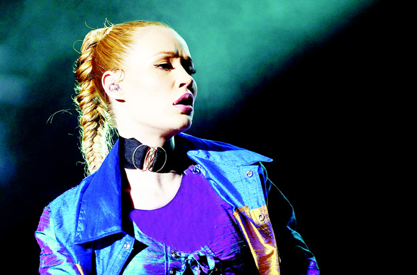 Australian singer Iggy Azalea performs during the World Music Festival 'Mawazine' in Rabat on May 21. (AFP)