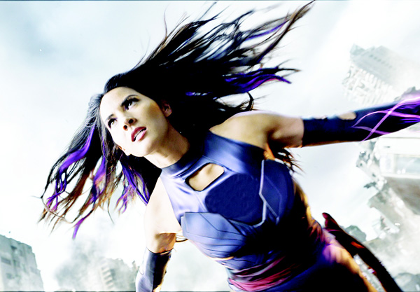 In this image released by Twentieth Century Fox, Psylocke, portrayed by Olivia Munn, appears in a scene from 'X-Men: Apocalypse'. The film topped the weekend with an estimated earning of $6.5 mn. (AP)