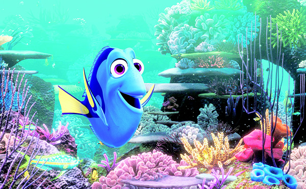 This image released by Disney shows the character Dory, voiced by Ellen DeGeneres, in a scene from 'Finding Dory'. (AP)