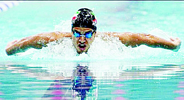 Photo of 23-year-old Kuwaiti swimmer Abbas Qali
