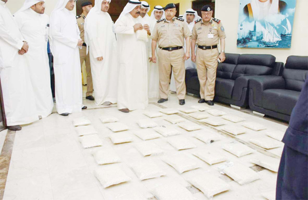 Drugs control department in a major operation seized over one million Captagon pills with a street value of about KD 3 million.