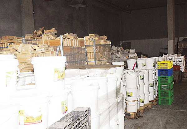 Tons of spoilt foodstuff found in a Shuwaikh warehouse