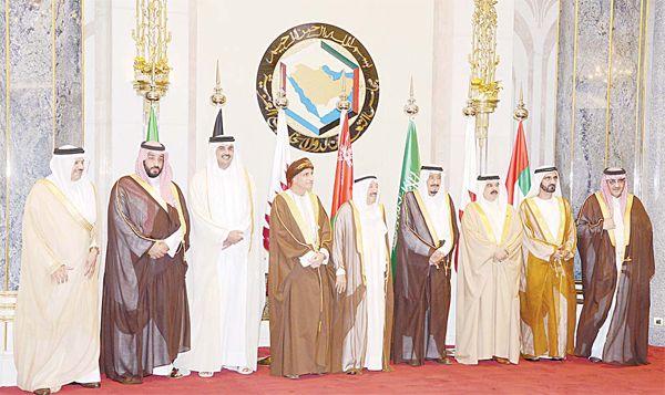 HH the Amir Sheikh Sabah Al-Ahmad Al-Jaber Al-Sabah and other GCC leaders pose for a family photo during the GCC Consultative Summit.