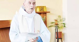 This picture obtained on the website of the Saint-Etienne-du-Rouvray parish on July 26, shows late priest Jacques Hamel celebrating a mass on June 11, 2016 in the church of Saint-Etienne-du-Rouvray, Normandy. The 84-year-old Jacques Hamel died on July 26, after his throat was slit after two attackers stormed the church during a morning mass, taking the five people inside hostage, including the priest, interior ministry spokesman said. (AFP)