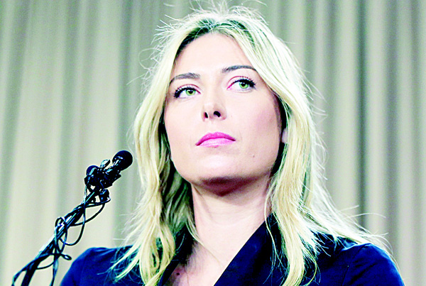 In this March 7, 2016 file photo, tennis star Maria Sharapova speaks about her failed drug test at the Australia Open during a news conference in Los Angeles. (AP)