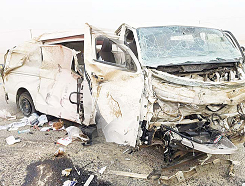 The van in which two Arab expats died