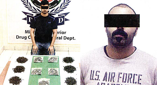 The Indian with marijuana seized and The Asian expat held for stealing