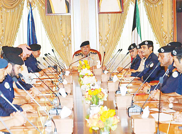 Undersecretary of Ministry of Interior Lt Gen Sulaiman Al-Fahad chairs a meeting of senior ministry officials. Safety of mosques during the holy month of Ramadan was discussed.