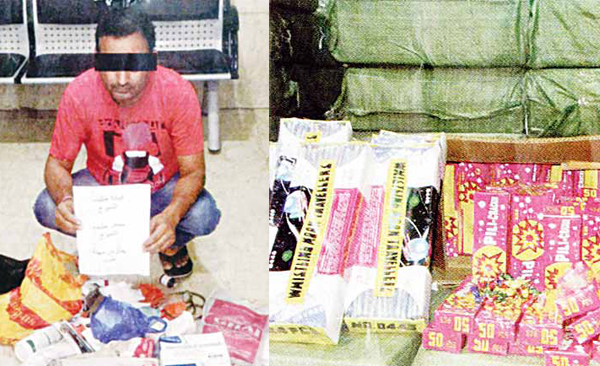 The Indian fake doctor and Fireworks seized by the custom