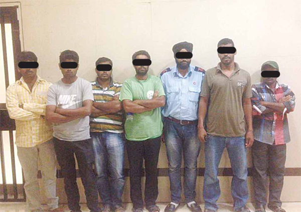 Some of the Asian expats arrested in the raid