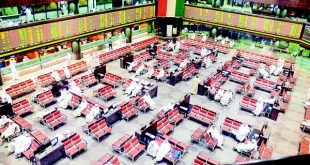 This file photo shows traders at KSE trading floor. The bourse has witnessed pullout of six companies.