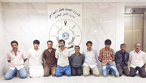 The Iranian detainees who tried to infiltrate into Kuwait