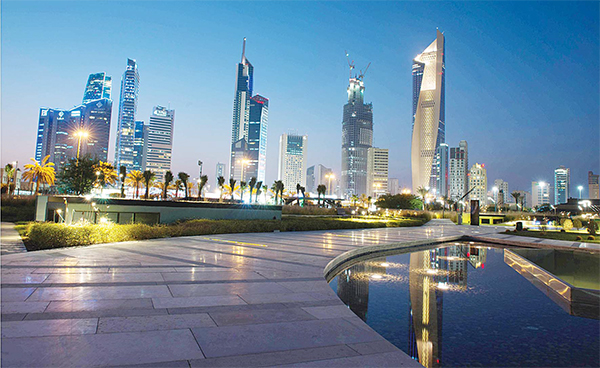 View of downtown Kuwait from Al-Shaheed Park