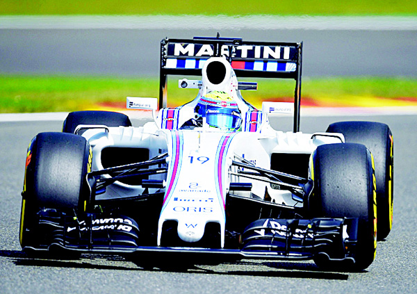 Williams Martini Racing's Brazilian driver Felipe Massa drives during the second practice session at the Spa-Francorchamps circuit in Spa on Aug 26, 2016 ahead of the Belgian Formula One Grand Prix. (AFP)