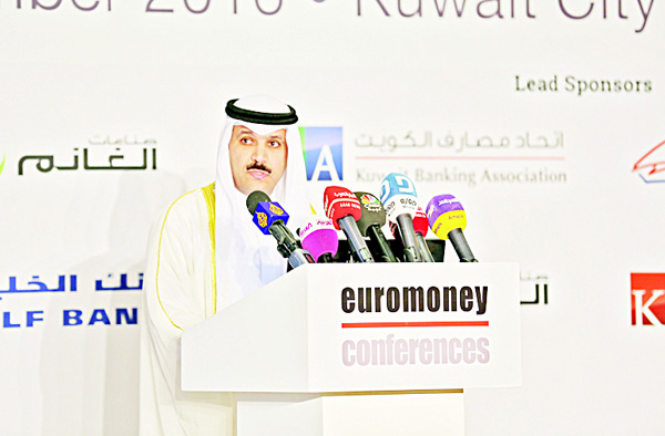 HE Dr Mohammad Y. Al-Hashel, Governor, Central Bank of Kuwait addressing the Euromoney Conference held on Sept 27 in Kuwait City.