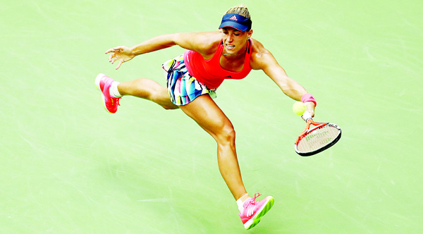 Angelique Kerber of Germany returns a shot against Karolina Pliskova of the Czech Republic during their Women's Singles Final Match on Day Thirteen of the 2016 US Open at the USTA Billie Jean King National Tennis Center on Sept 10, in the Flushing neighborhood of the Queens borough of New York City.
