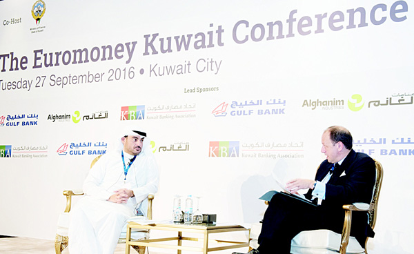 Omar Kutayba Alghanim, Chairman of Gulf Bank during his interview session.