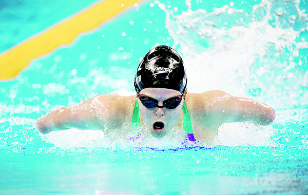 Nikita Howarth of New Zealand competes in Heat 2 of the Women's 200m Individual Medley – SM7 at the Olympic Aquatics Stadium during the Paralympic Games in Rio de Janeiro, Brazil on Sept 13. (AFP)