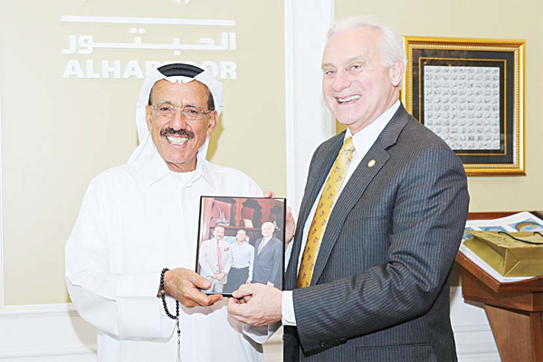 al-habtoor meets new auc president in office
