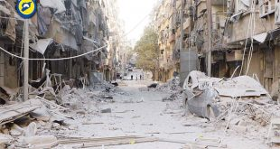 In this photo provided by the Syrian Civil Defense group known as the White Helmets, shows heavily damaged buildings after airstrikes hit in Aleppo, Syria on Sept 24. Syrian government forces captured a rebel-held area on the edge of Aleppo on Saturday, tightening their siege on opposition-held neighbor hoods in the northern city as an ongoing wave of airstrikes destroyed more buildings. (AP)