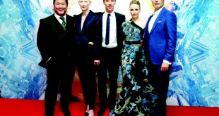From left: Actors Benedict Wong, Tilda Swinton, Benedict Cumberbatch, Rachel McAdams and Mads Mikkelsen pose for photographers upon arrival at the launch event of the film 'Doctor Strange', in London, on Oct 24. (AP)