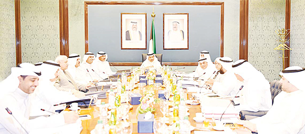 HH the Prime Minister Sheikh Jaber Mubarak Al-Sabah chairs the weekly Cabinet meeting