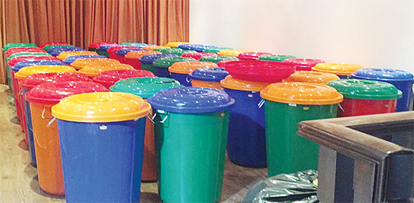 Barrels of liquor ready for sale found in Keifan house.