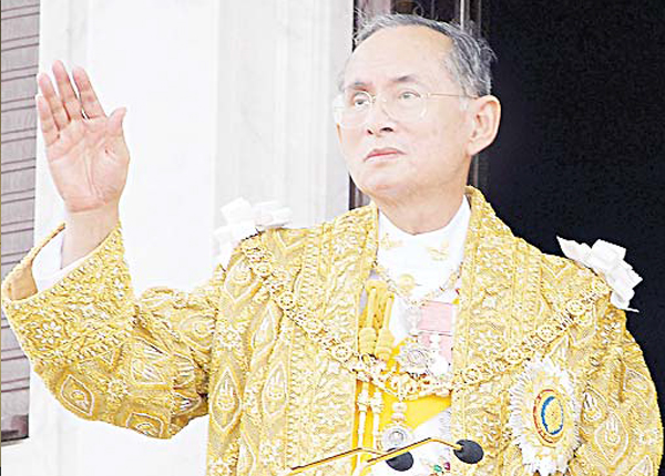 In this June 9, 2006 file photo released by the Thai Government Public Relations Department, Thailand King Bhumibol Adulyadej acknowledges the crowd in Bangkok during the celebrations of the 60th anniversary of his accession to the throne. Thailand's Royal Palace said on Thursday, that Thailand's King Bhumibol, the world's longestreigning monarch, has died at age 88. (AP)