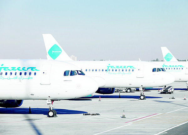 Jazeera Airways aircrafts at tarmac