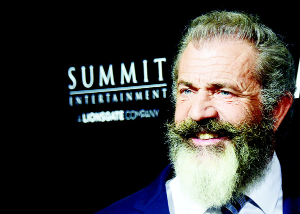 This file photo taken on Oct 24, 2016 shows Mel Gibson on arrival for the special screening of the film he directed 'Hacksaw Ridge', at the Samuel Goldwyn Theater in Beverly Hills, California. (AFP)