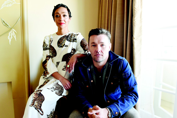 In this Oct 22, 2016 photo, Ruth Negga (left), and Joel Edgerton pose during a portrait session to promote their film, 'Loving' in Los Angeles. (AP)