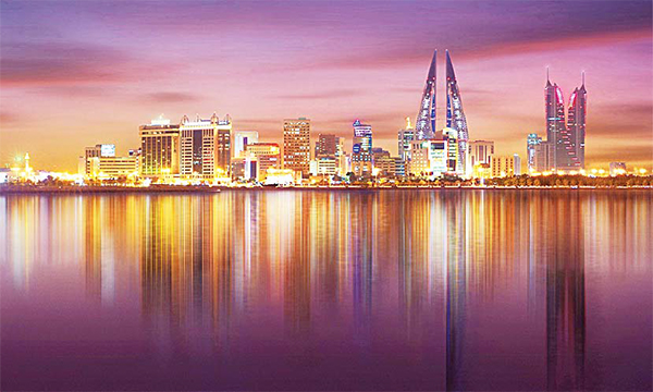 A general view of part of Bahrain