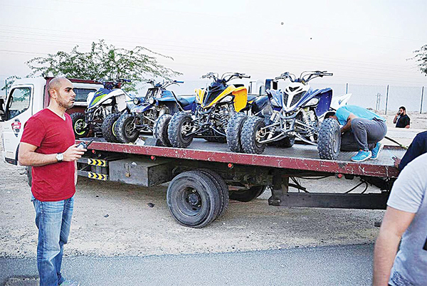 Many motorbikes and dune-buggies were confiscated in massive traffic campaigns throughout the country. Driving buggies on roads is strictly prohibited and so is driving motorbikes without licence.