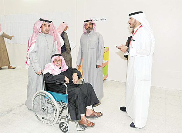 People with special needs helped to polling booth