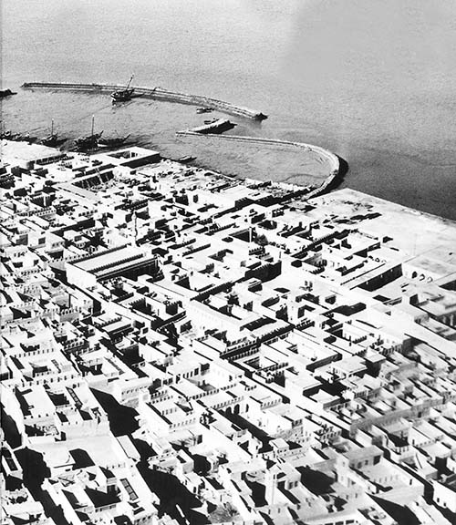 An aerial shot of old Kuwait from the Kuwait Digest