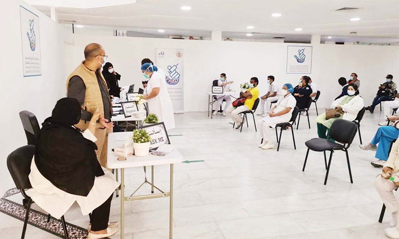 1,000 Health Workers from the Al-Sabah Medical District Register for Vaccines