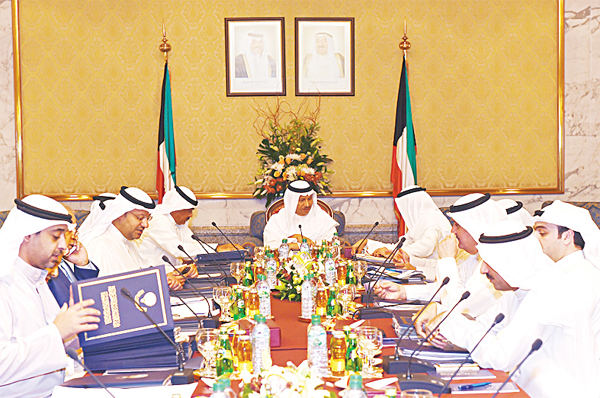 HH the PM Sheikh Jaber Al-Mubarak Al-Sabah chairing the weekly Cabinet meeting