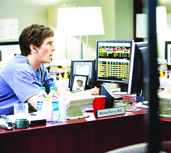 This photo provided by Paramount Pictures shows Christian Bale as Michael Burry, in the film 'The Big Short,' from Paramount Pictures and Regency Enterprises. (AP)