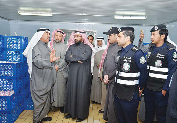 Minister of Public Works and Minister of state for National Assembly Affairs Dr Ali Al-Omair seen on an inspection trip
