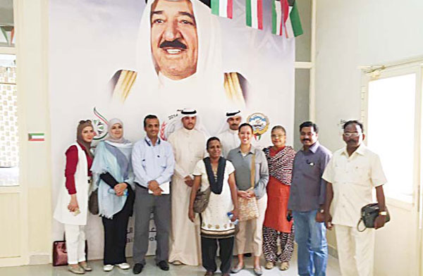 The delegation inspected utilities in the shelter; Handicrafts Department and recreational area for sports
