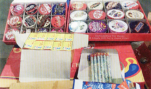 Fireworks wrapped in known chocolate covers seized