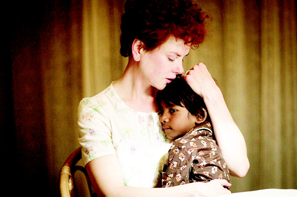 In this image released by The Weinstein Company, Nicole Kidman and Sunny Pawar appear in a scene from 'Lion.' (AP)