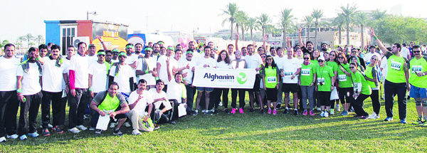 Alghanim Industries employees participate in RunQ8 Charity