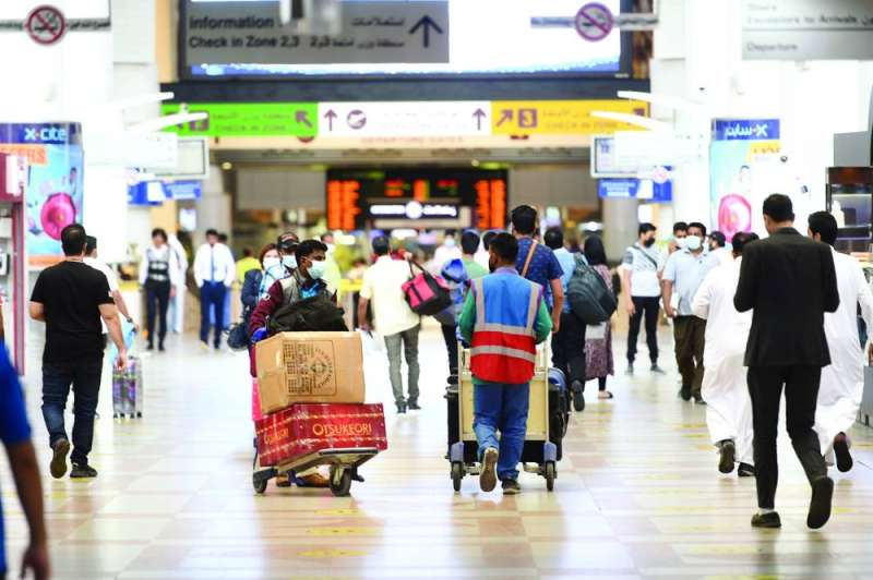Arrivals and departures at Kuwait airport still sheepish